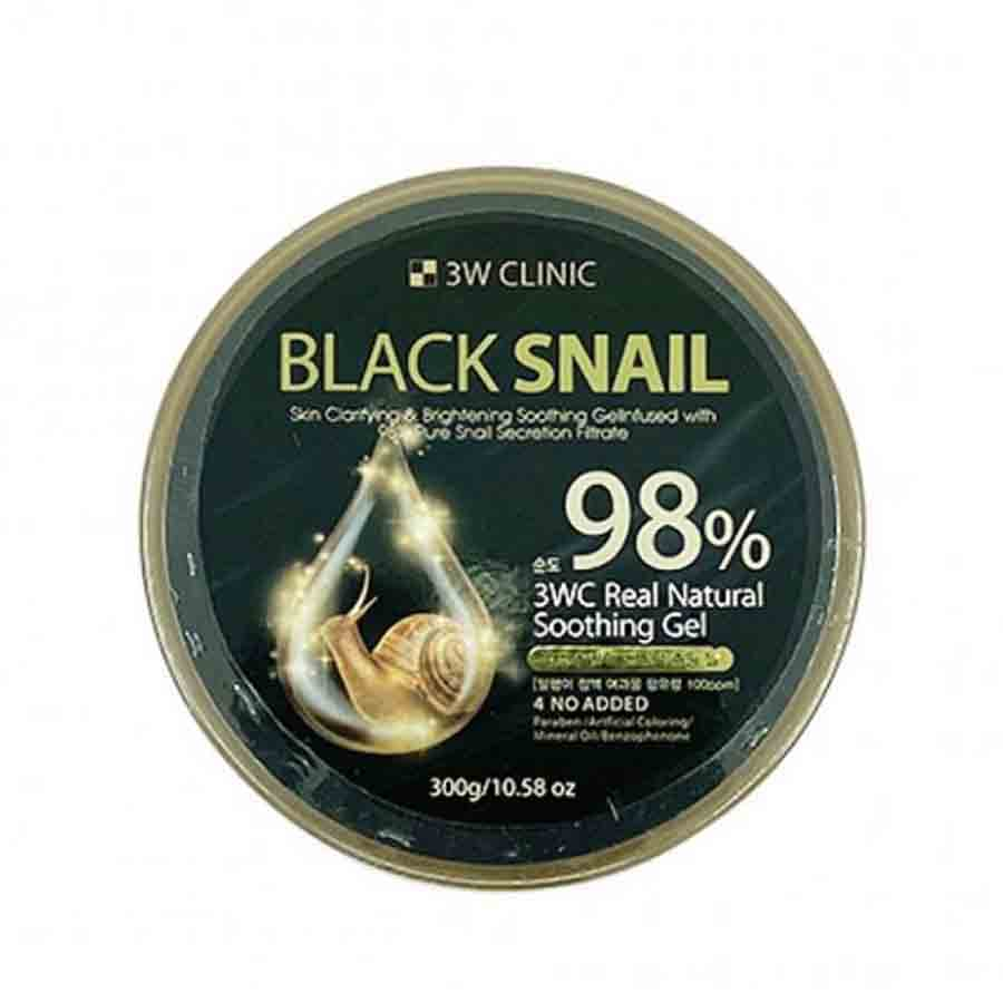 3W CLINIC Black Snail Natural Soothing Gel 98%