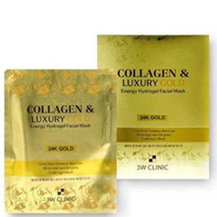 3W CLINIC Collagen&Luxury Gold Energy Hydrogel Facial Mask