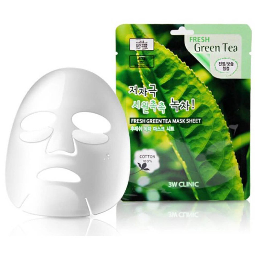 3W CLINIC Fresh Green Tea Mask Sheet