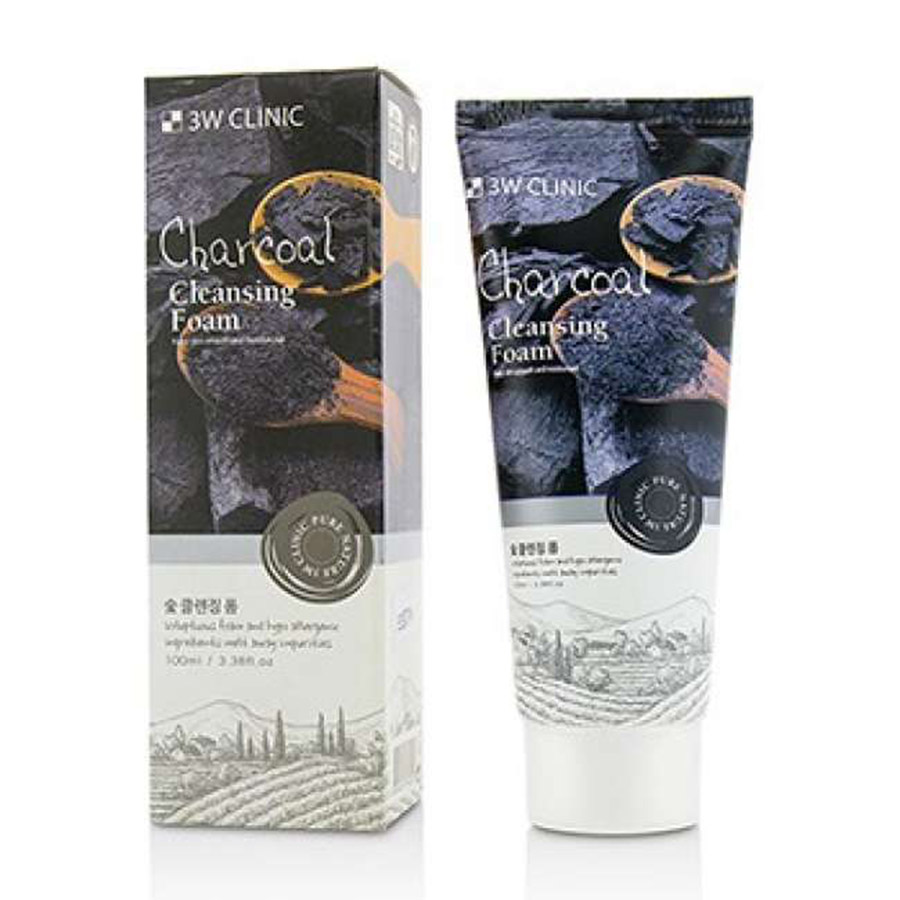 3W CLINIC Pure Natural Charcoal Cleansing Foam