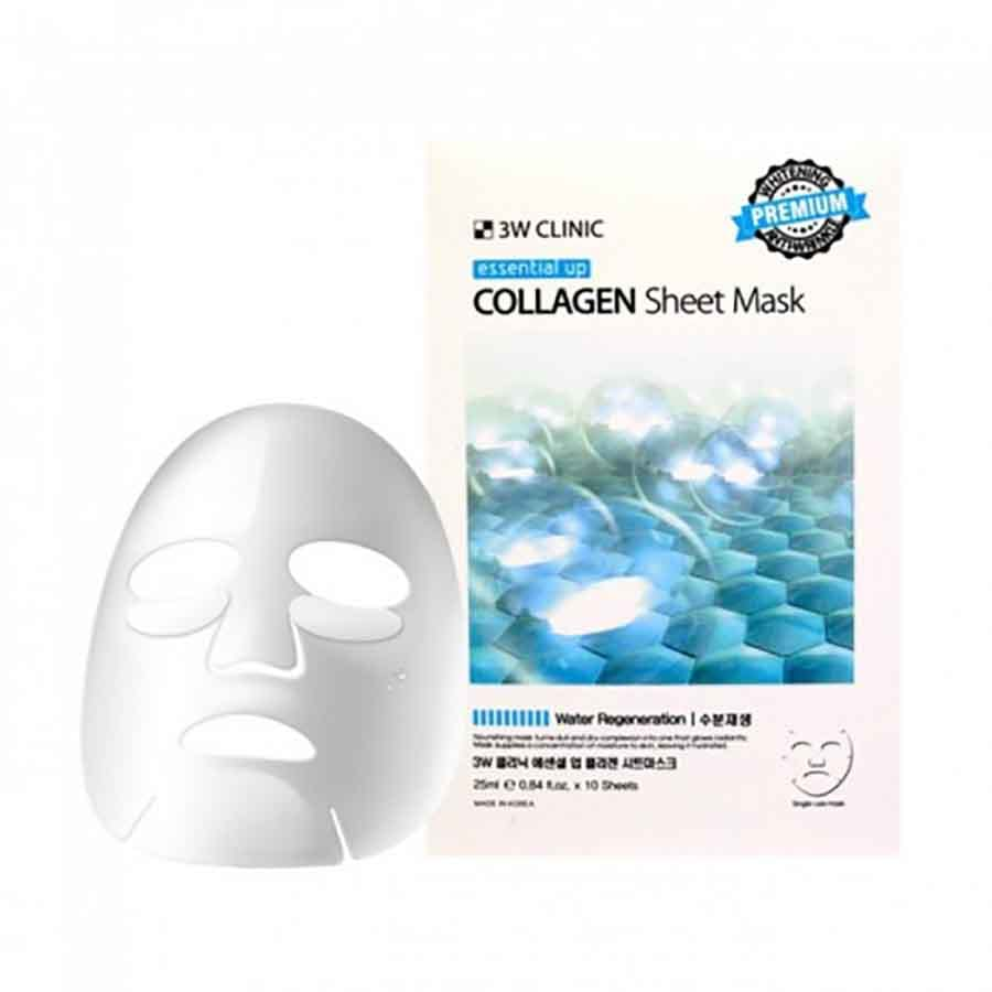 3W Clinic Essential Up Collagen Sheet Mask