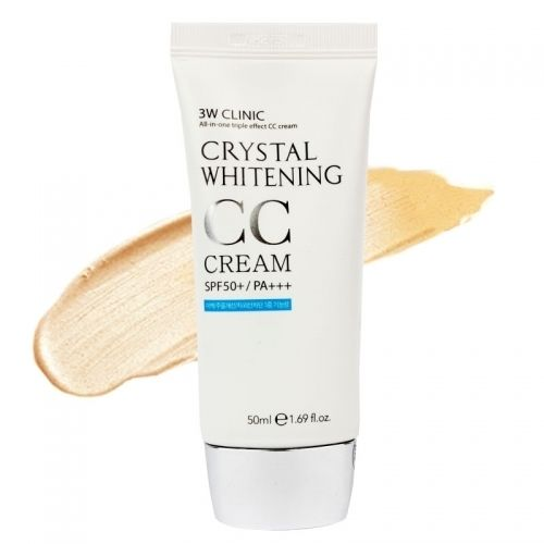 3W CLINIC Crystal Whitening CC Cream SPF50 PA+++ Natural Beige