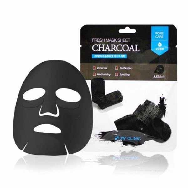 3W CLINIC Fresh Charcoal Mask Sheet