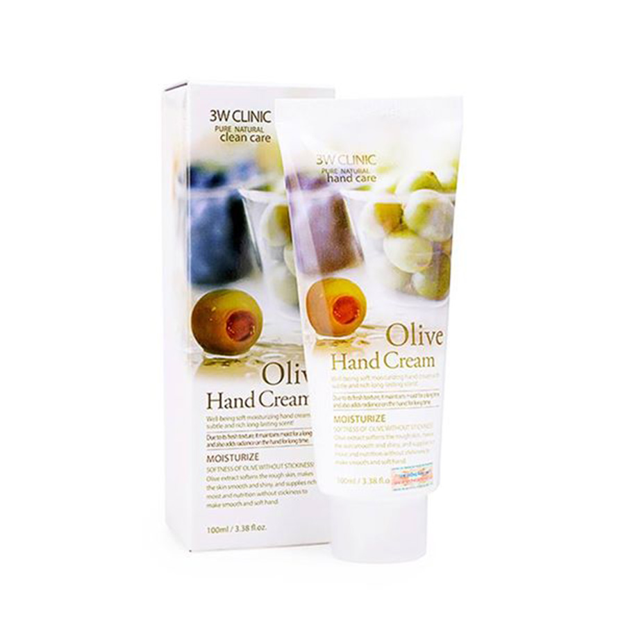 3W CLINIC Moisturizing Olive Hand Cream