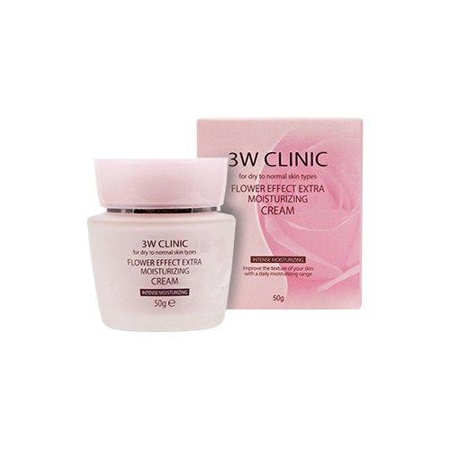3W Clinic Flower Effect Extra Moisturizing Cream