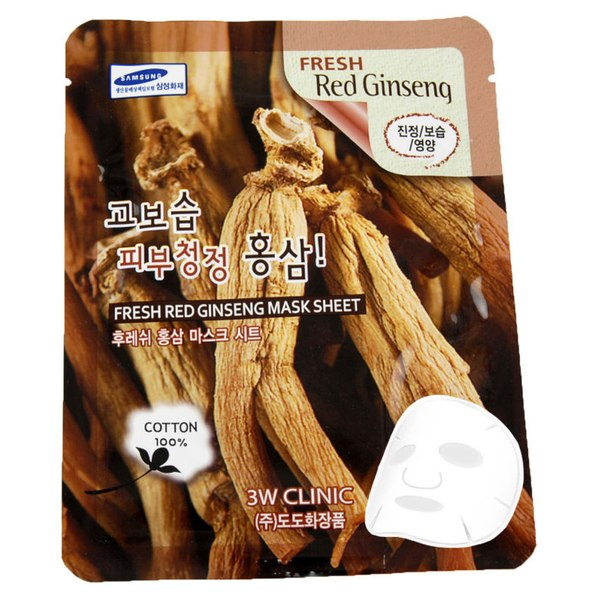 3W Clinic Fresh Red Ginseng Mask Sheet