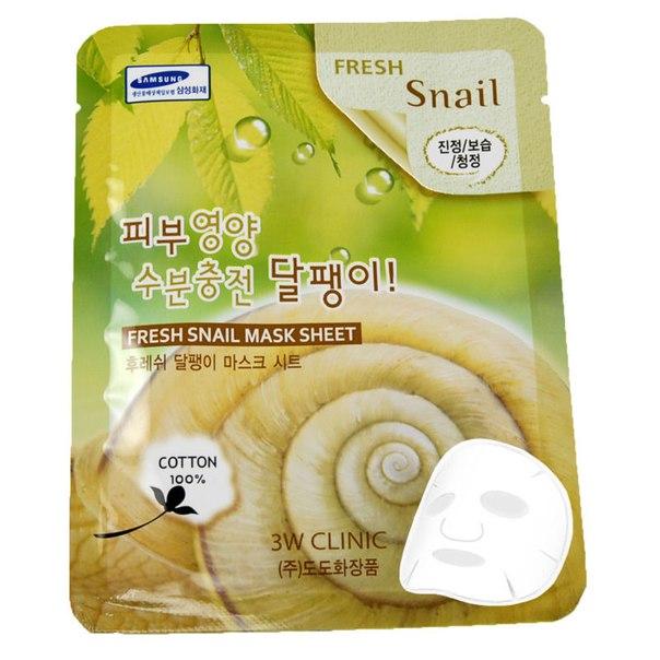3W Clinic Fresh Snail Mask Sheet