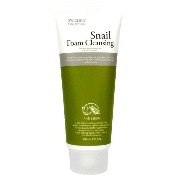 3W Clinic Snail Foam Cleansing