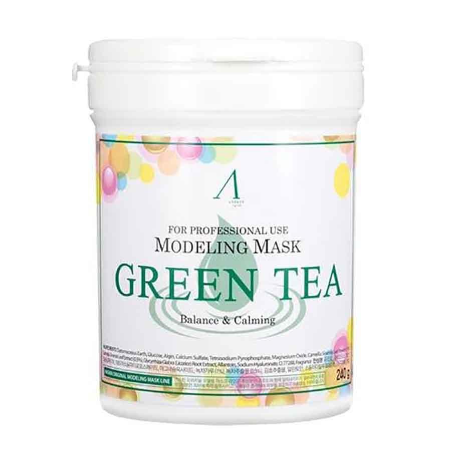 Успокаивающая альгинатная маска с экстрактом зеленого чая