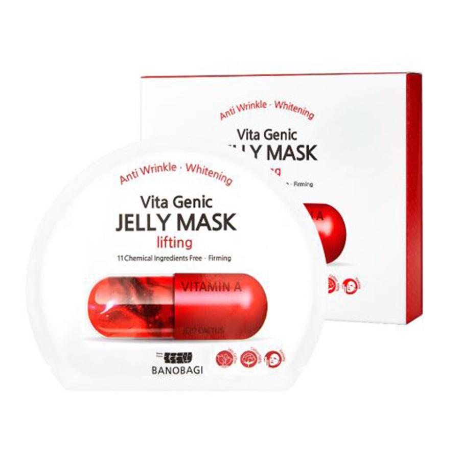 Тканевая лифтинг-маска с желейной сывороткой из витаминов