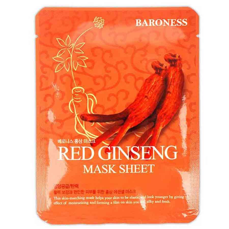 Тканевая маска с экстрактом красного женьшеня