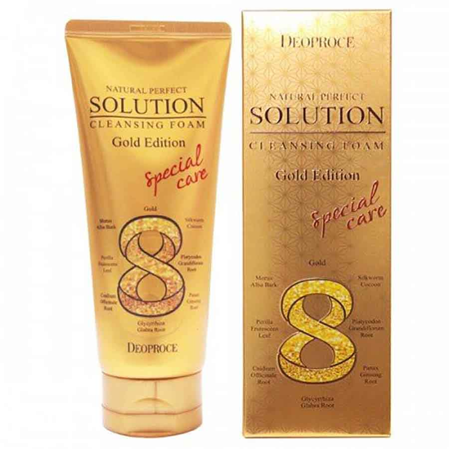 Deoproce Solution Cleansing Foam Gold Edition