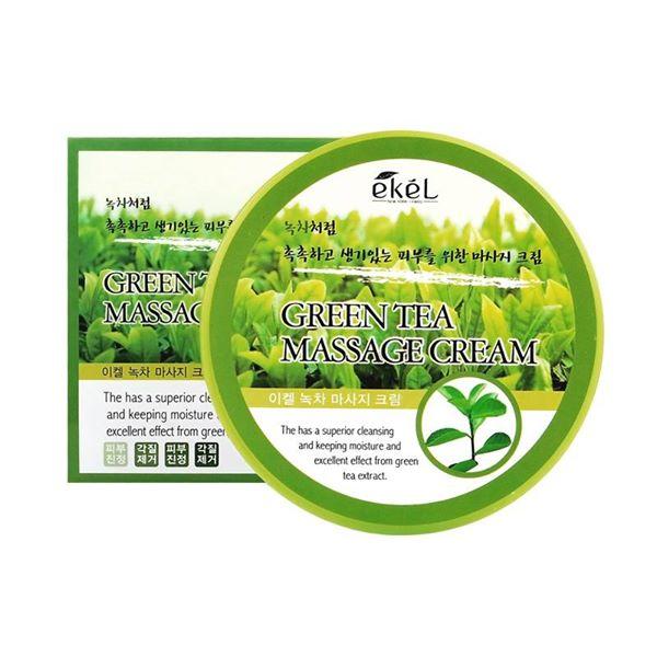Массажный крем для лица с органическим экстрактом зеленого чая