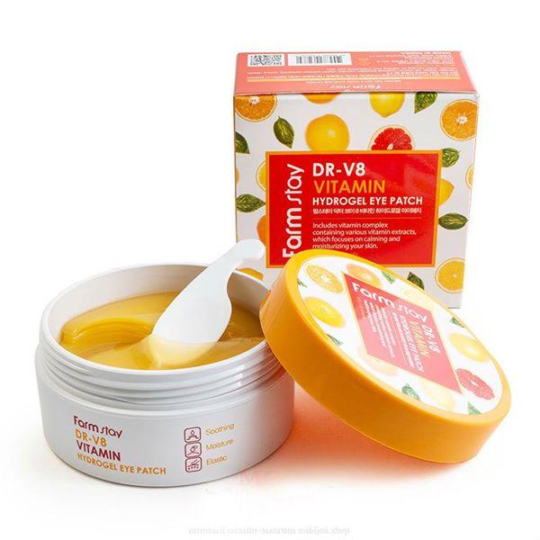 FARMSTAY DR-V8 Vitamin Hydrogel Eye Patch