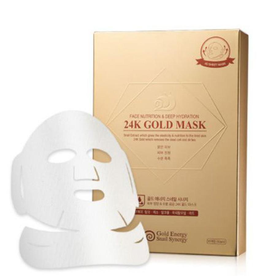 Gold Energy Snail Synergy Face Nutrition & Deep Hydration 24K Gold Mask