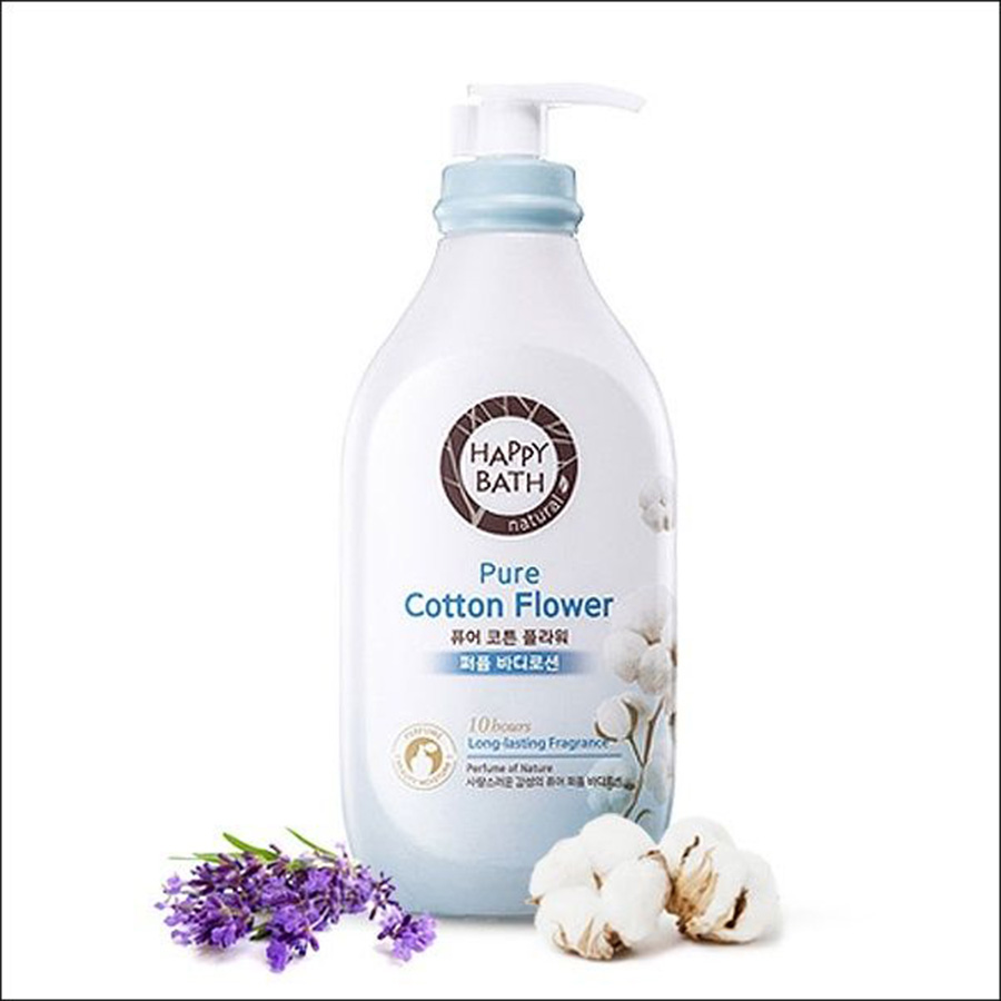 Happy Bath Pure Cotton Flower Lotion