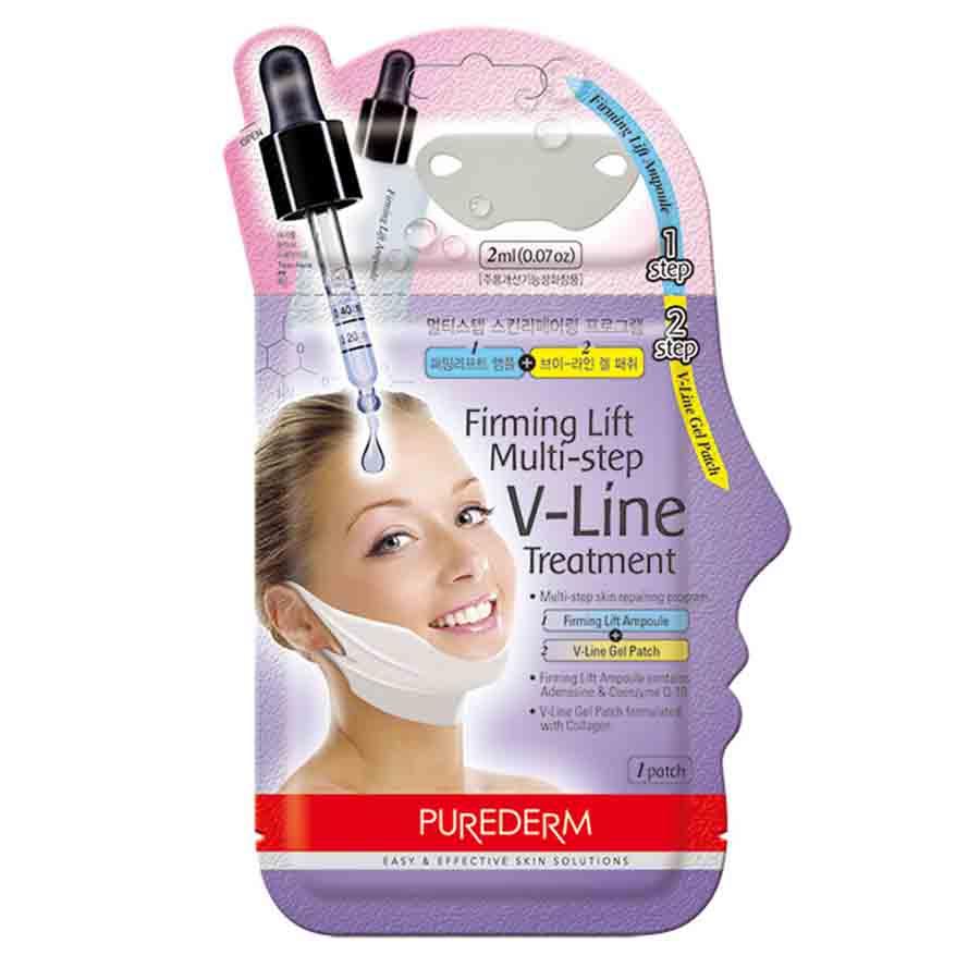 Лифтинговая маска для V-линии с коллагеном (ампула + патч)