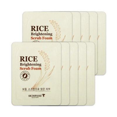 Пенка-скраб для яркости кожи с экстрактом риса
