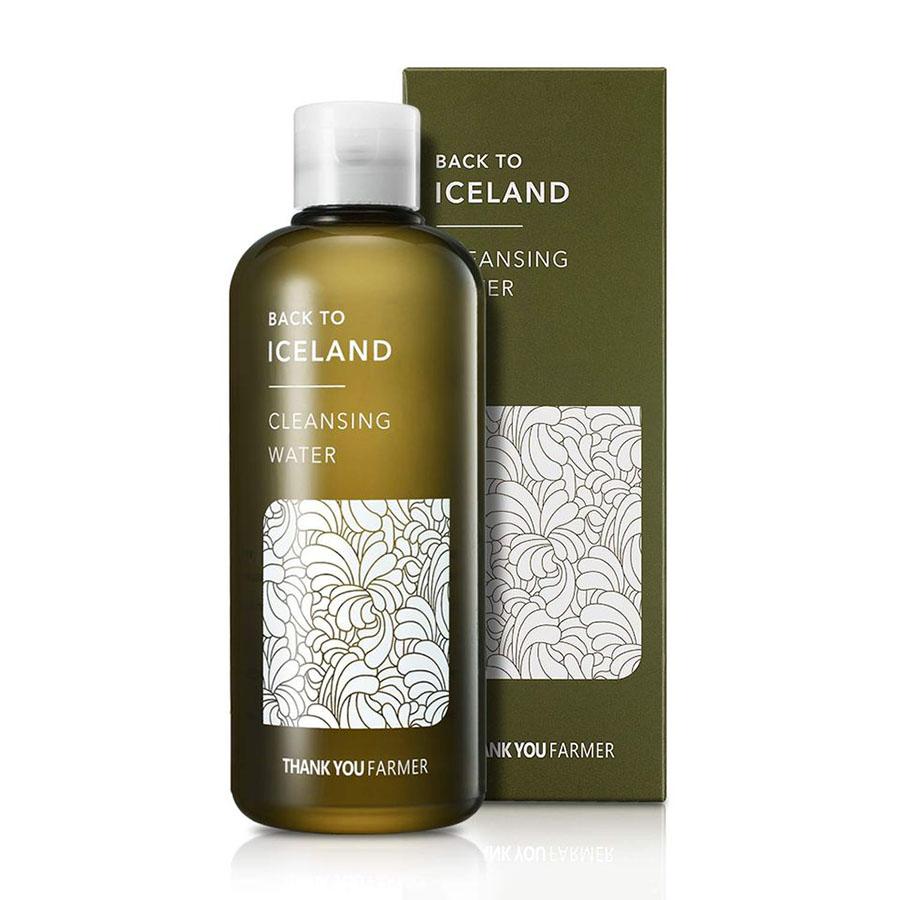 Очищающая и тонизирующая вода для гладкости лица на основе исландского мха