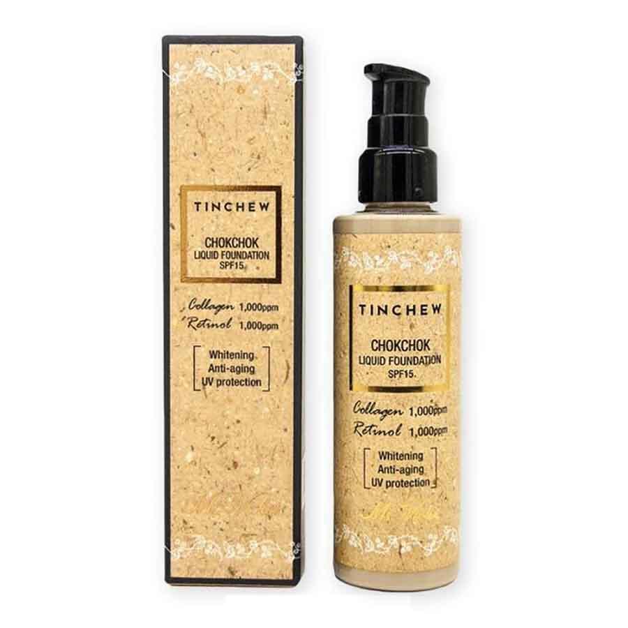 Tinchew Chokchok Liquid Collagen-Retinol Foundation Whitening, Anti-aging, UV Protection SPF15