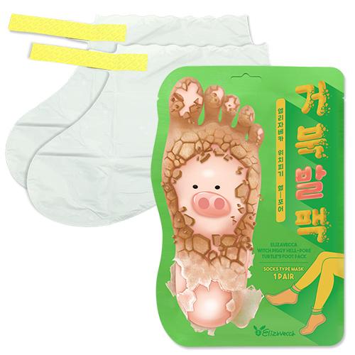 Отшелушивающая маска-носочки для ног ELIZAVECCA, 1пара