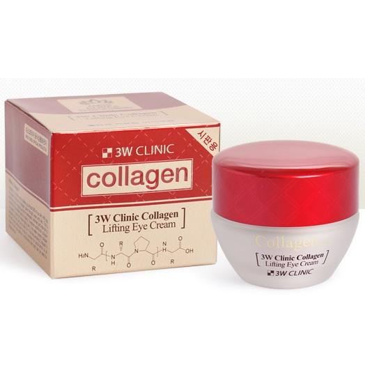 Лифтинг крем для кожи вокруг глаз с коллагеном 3W Clinic, 35мл
