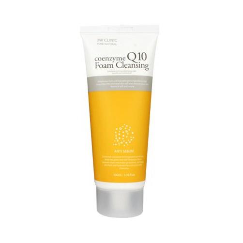 Очищающая пенка с коэнзимом Q10 для тонкой и чувствительной кожи лица 3W Clinic, 100мл