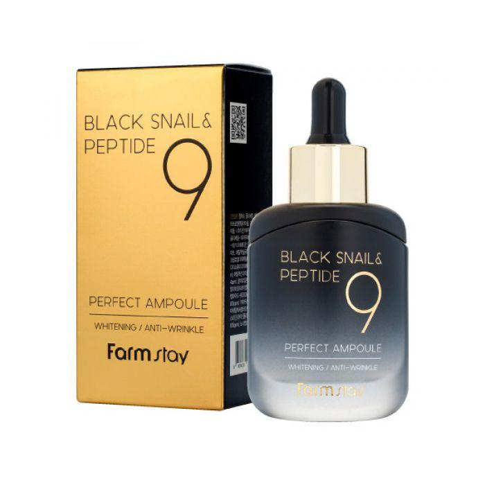FarmStay Black Snail & Peptide 9 Perfect Ampoule