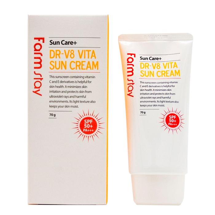 Солнцезащитный крем с витаминами FarmStay SPF 50+ PA+++, 70г