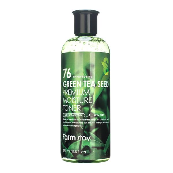 Антиоксидантный тонер с экстрактом семян зеленого чая Farm Stay, 350мл