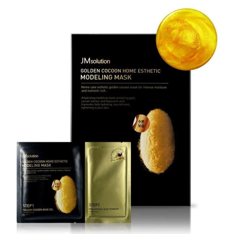 Моделирующая маска с протеинами золотого шелкопряда и гиалуроновой кислотой JMsolution, 1шт.