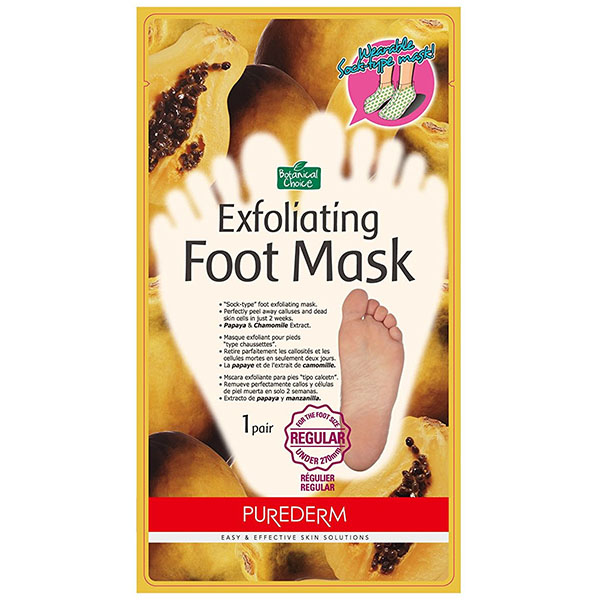 Пилинг - маска для ног с экстрактами папайа и ромашки Purederm, 1пара