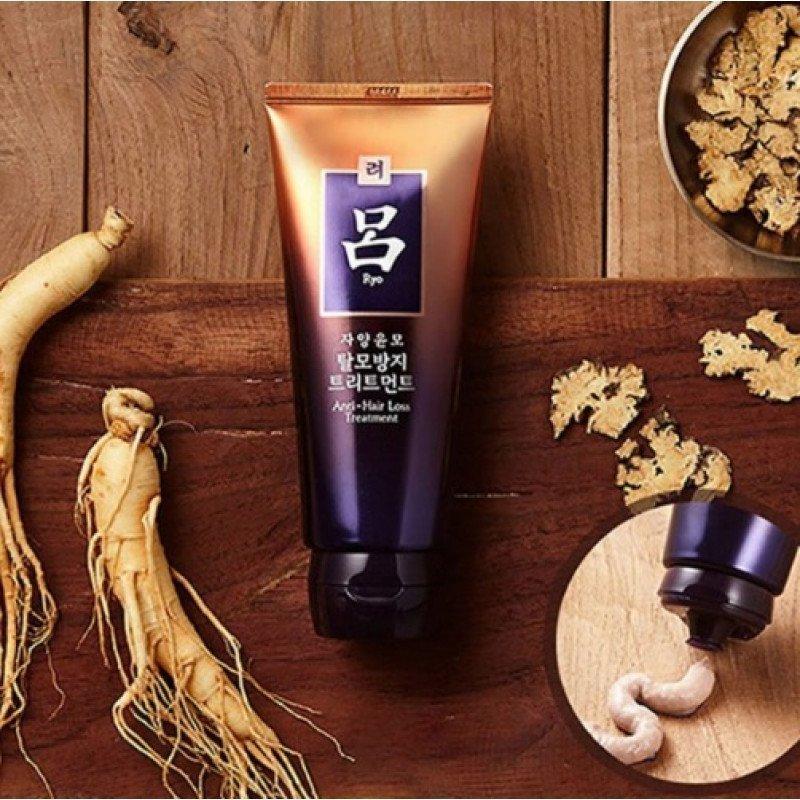 Восстанавливающая маска против выпадения волос с женьшенем и маслом камелии Ryo, 200мл