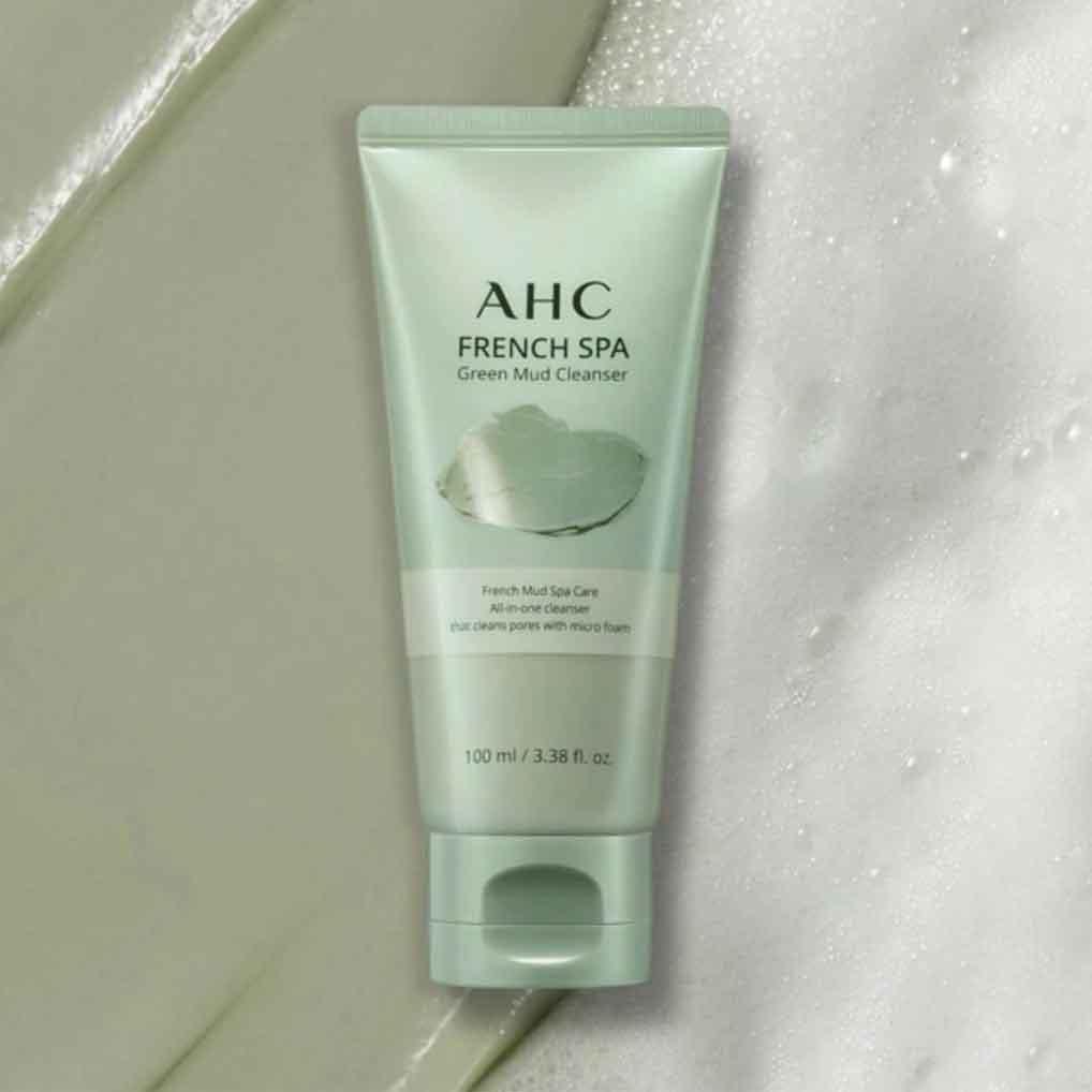 Очищающая СПА маска-пенка с французской зеленой глиной A.H.C, 100мл