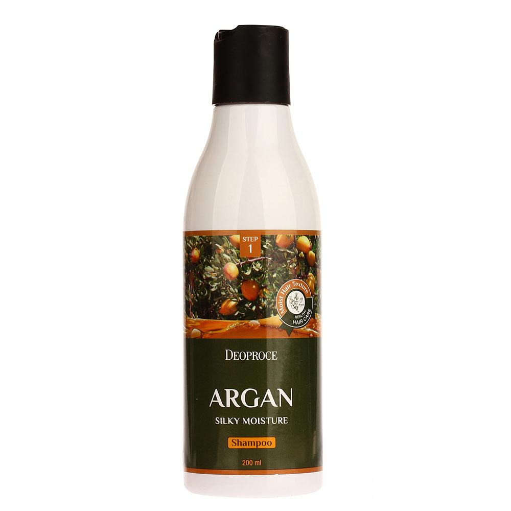 Увлажняющий шампунь с аргановым маслом и хной Deoproce, 200мл