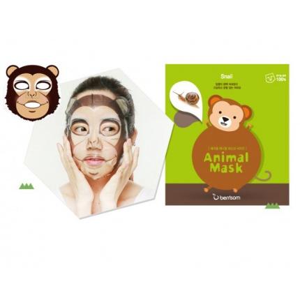 Восстанавливающая тканевая маска с муцином улитки (обезьянка) Berrisom, 1шт.