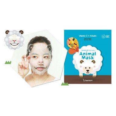 Тканевая маска с витамином С для осветления и выравнивания тона лица (овечка) Berrisom, 1шт.