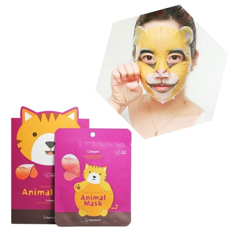 Укрепляющая тканевая маска с коллагеном (кошечка) Berrisom, 1шт.