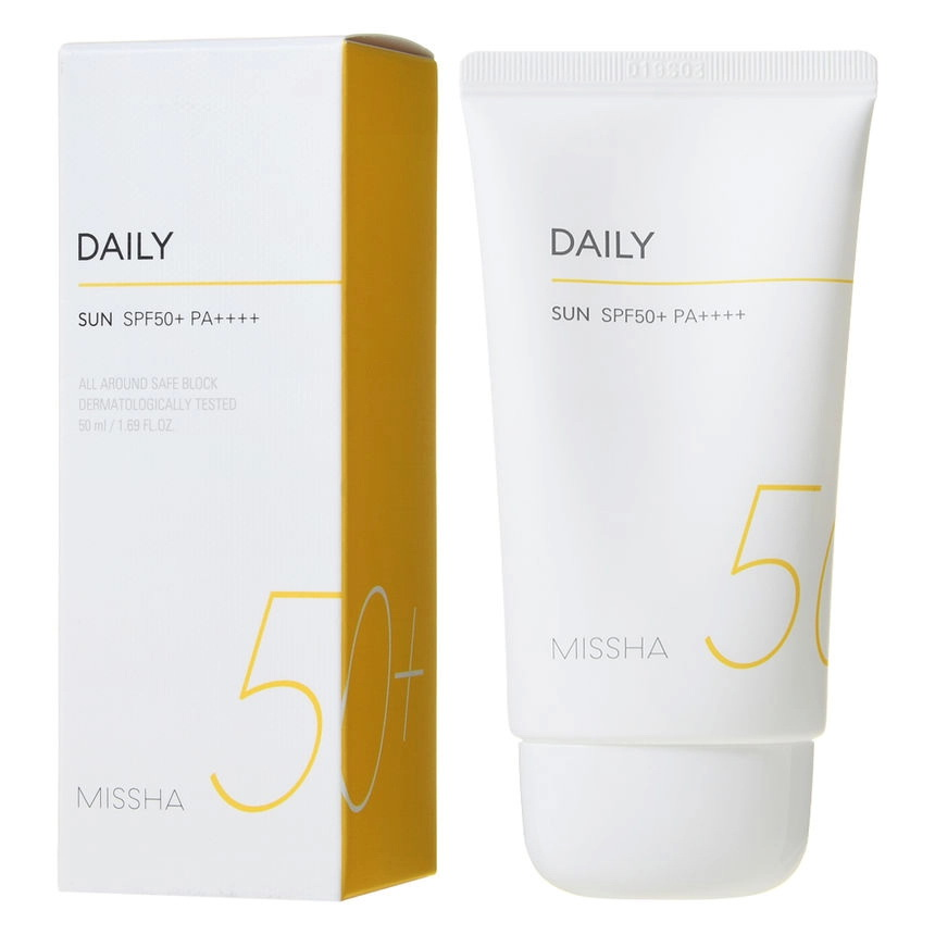 Ежедневный солнцезащитный крем SPF50+ PA++++ Missha, 50мл