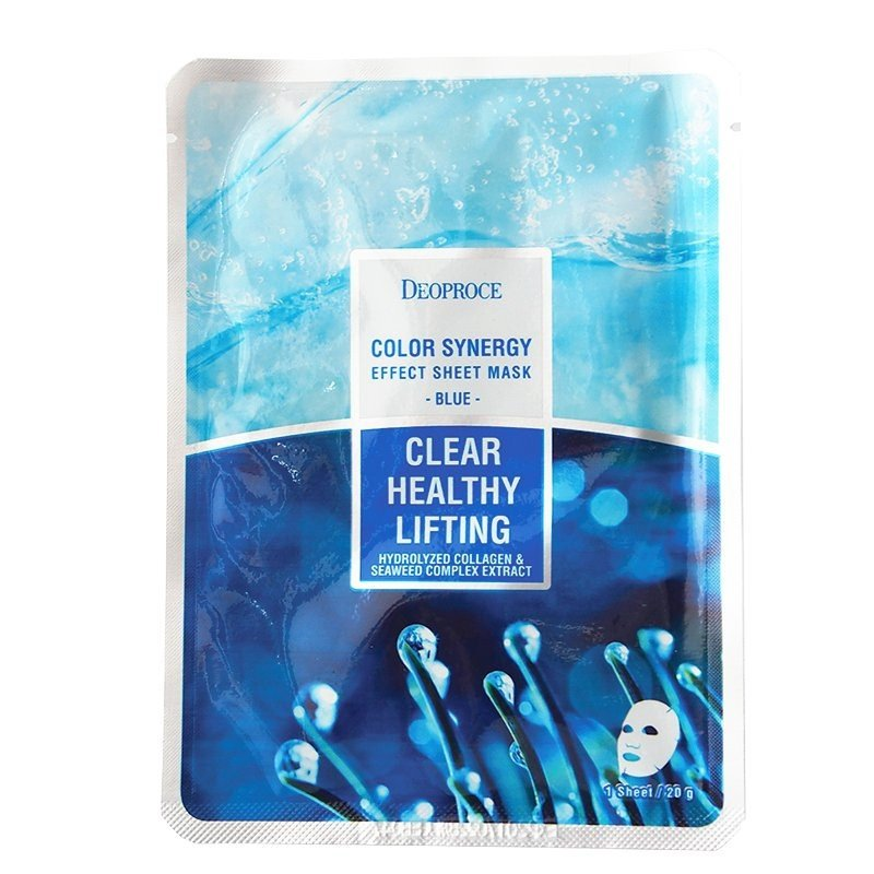 Deoproce Color Synergy Effect Sheet Mask Blue