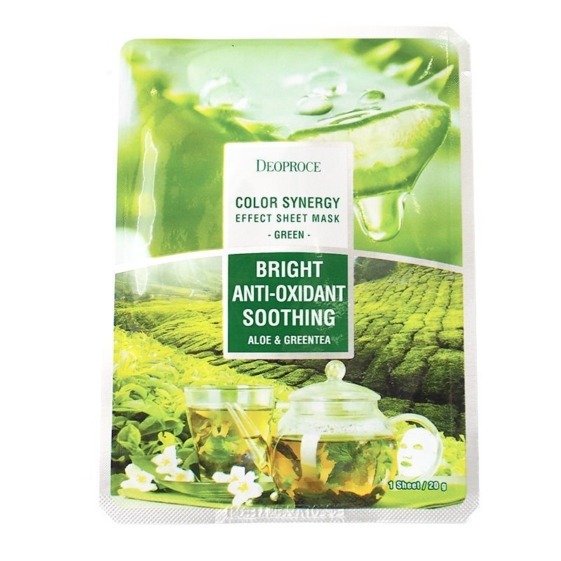 Deoproce Color Synergy Effect Sheet Mask Green