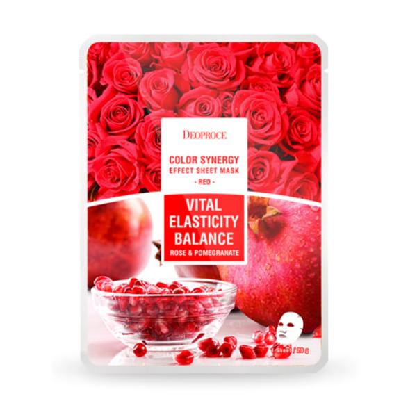 Тканевая маска с экстрактами граната и лепестков роз Deoproce, 1шт.