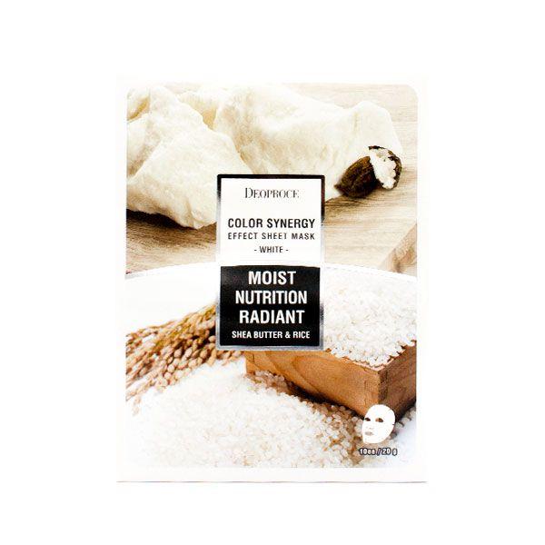 Тканевая маска с маслом ши и рисовой водой Deoproce, 1шт.