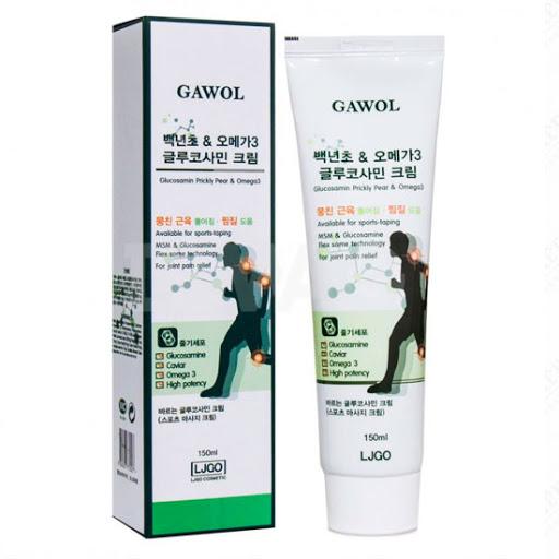 Лечебный массажный крем для тела с глюкозамином и Омега-3 Gawol, 150мл