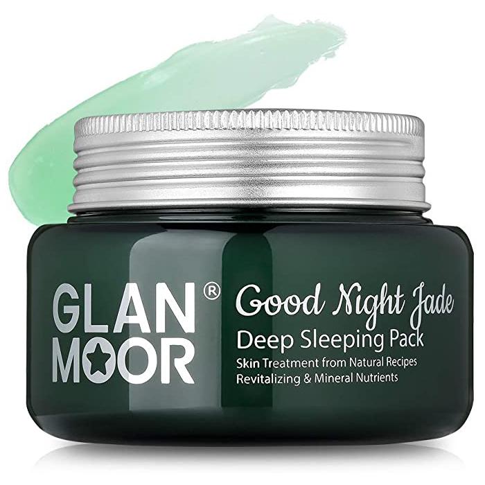 Омолаживающая увлажняющая ночная маска с нефритом Glan Moor, 100мл