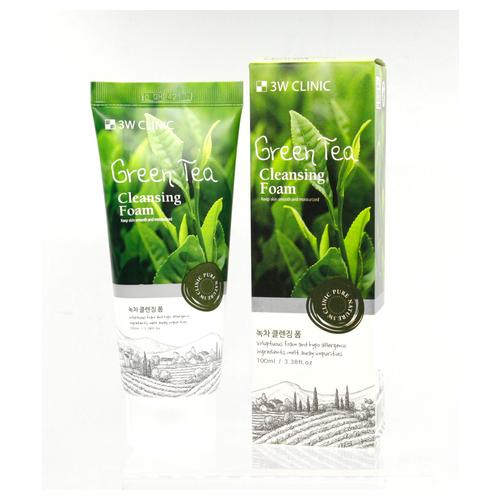 3W CLINIC Foam Cleansing Green Tea