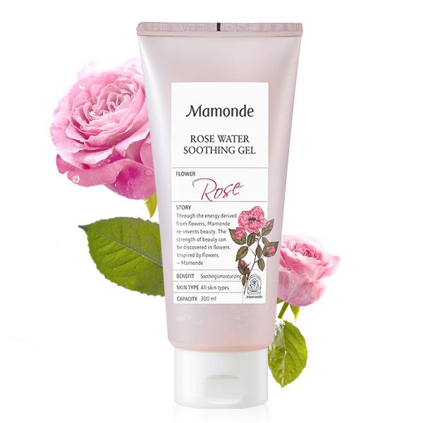 Успокаивающий регенерирующий гель с дамасской розой Mamonde, 300мл