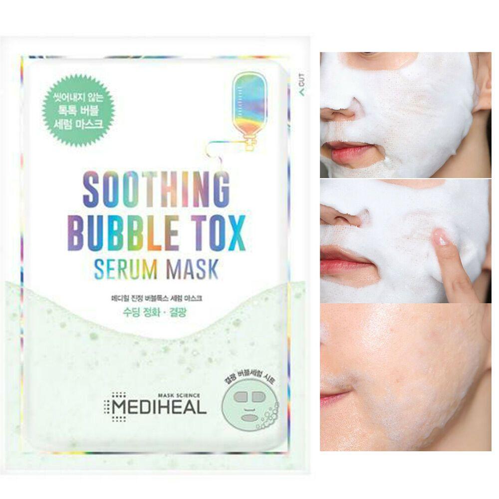 Успокаивающая пузырьковая маска MEDIHEAL, 18мл