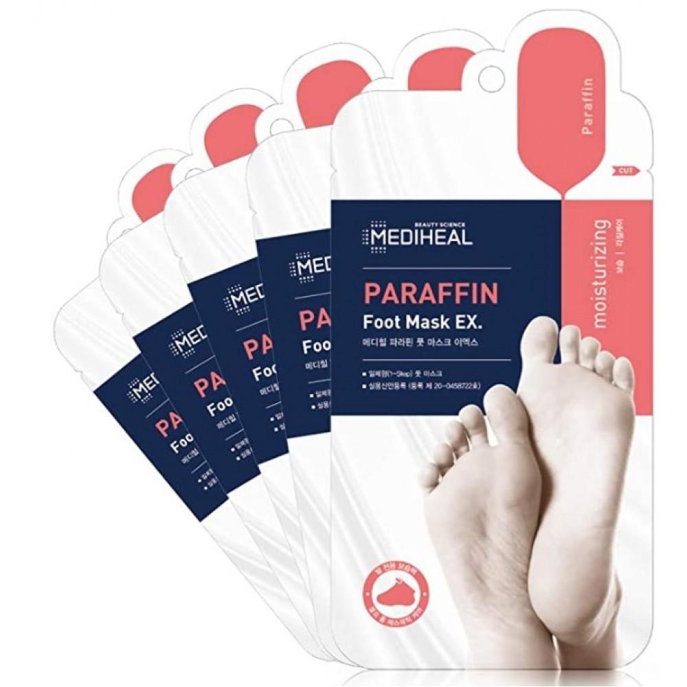 Парафиновая маска-носочки для ног Mediheal, 1 пара