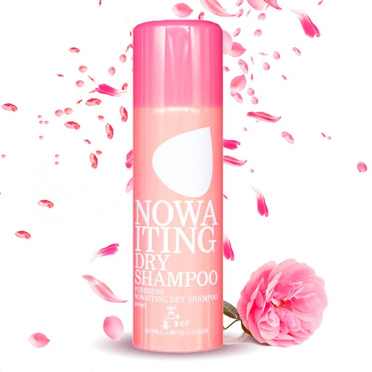 Сухой шампунь с ароматом розы Purebess, 200мл